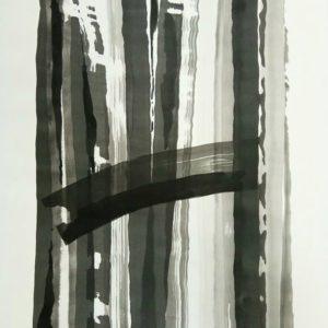 10. The Gap Sponge Ink on paper 300x300 - 10) 'The Gap', Sponge & Ink on paper, 21.6inch x 29.5inch