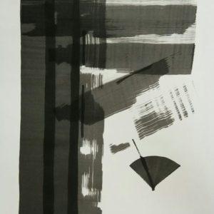 12. The Gap Sponge Ink on paper 300x300 - 12) 'The Gap', Sponge & Ink on paper, 21.6inch x 29.5inch