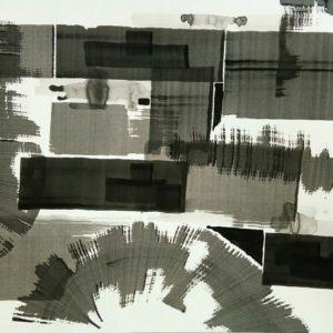13. The Gap Sponge Ink on paper 300x300 - 13) 'The Gap', Sponge & Ink on paper, 29.5inch x 21.6inch